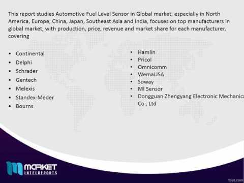 Global Automotive Fuel Level Sensor Market Share,Size,Forecast & Trends 2021