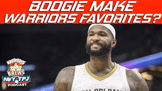 Does Boogie Cousins Make The Warriors Unanimous Favorite ? | Hoops N Brews