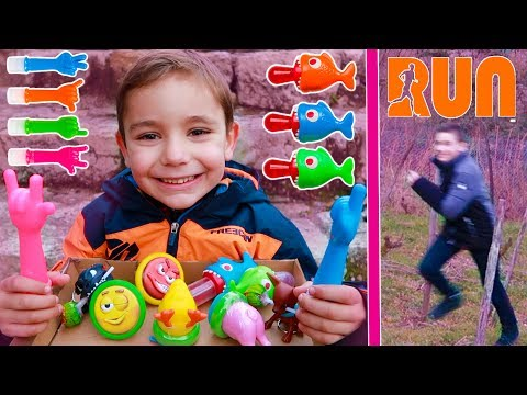 CANDY CHALLENGE  On saffronte pour des Bonbons  Learn colors with candy