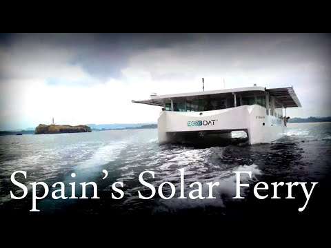 ECOBOAT ECOCAT: Amazing Solar Powered Ferry Using Torqeedo Deep Blue Electric Motors