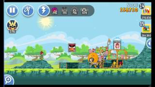 Angry Birds Friends The Movie Hype Tournament ● LEVEL 6 ● 283 K HD ● Week 203 ●  POWER UP