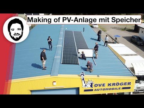 Making Of YouTube! - Photovoltaik-Anlage Mit Speicher Bei T&T Tesla! Hinter Den Kulissen