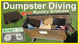 Found Mystery Briefcase Dumpster Diving #264 Never Guess What I Found Inside!!!