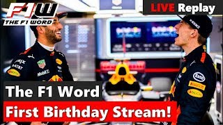 The F1 Word Live Replay: Channel Birthday Stream