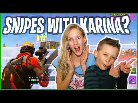 Sniping Each Other - Fortnite DUOs with GamerGirl
