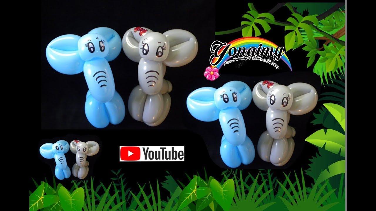 Como hacer un sencillo elefante how to make an easy - Hacer munecos con globos ...