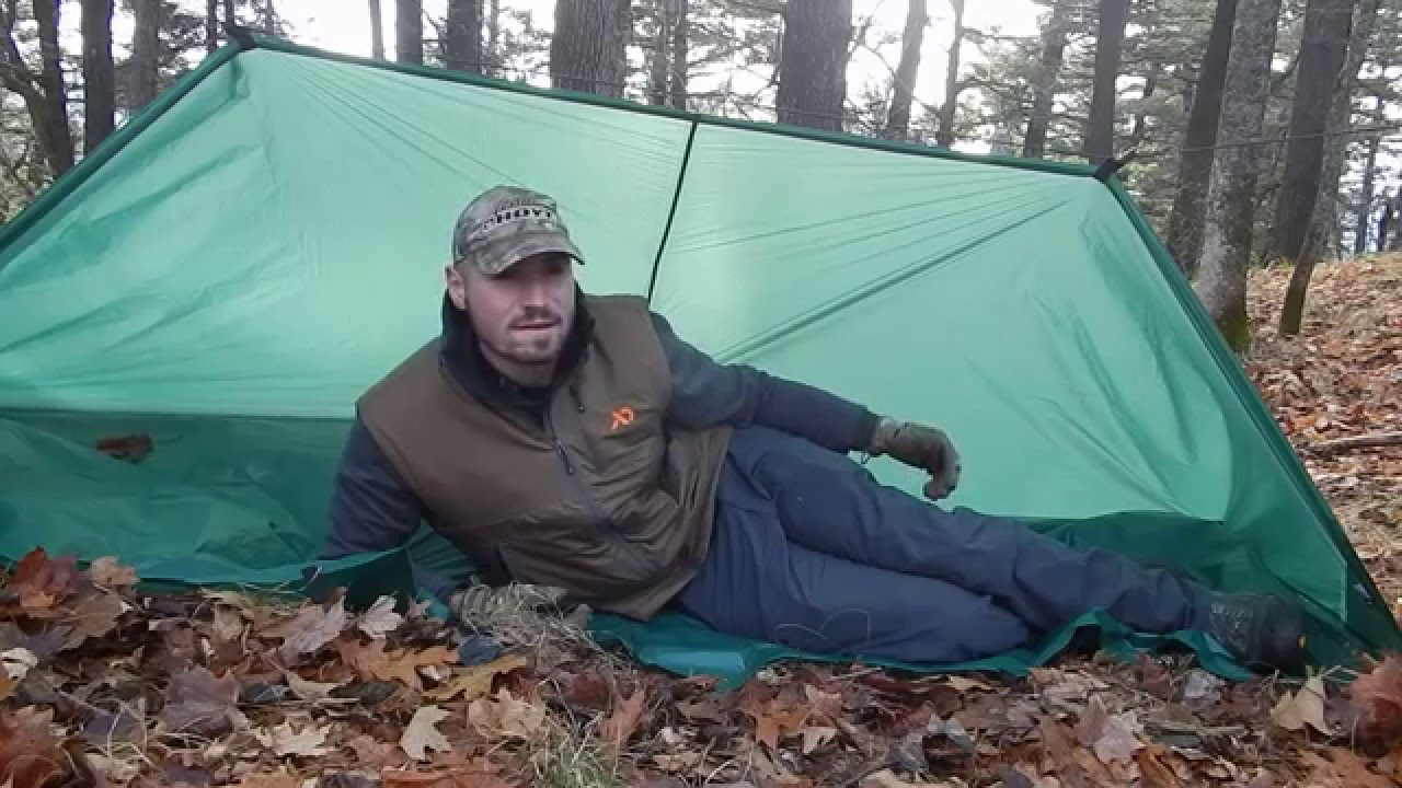 Cold Weather Survival Tarp Shelter Youtube