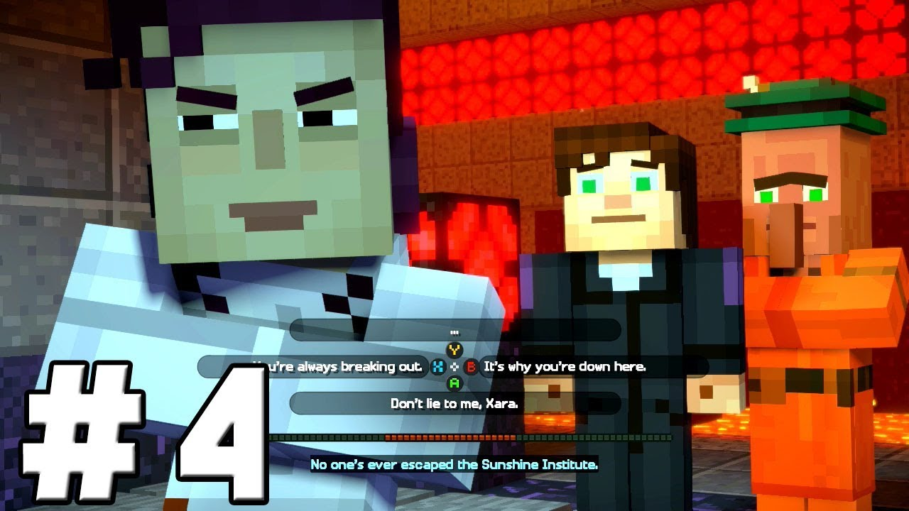 Minecraft Story Mode Season 2 Episode 3 Walkthrough Part 4 - EVIL Jesse &  Sacrificing a Friend
