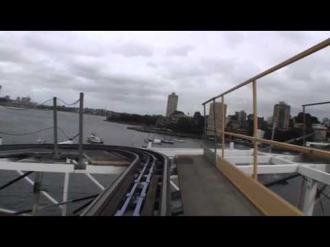 Wild Mouse Wooden Roller Coaster Front Seat POV Luna Park Sy