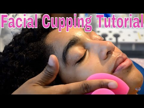 How to Give Your Clients a Cupping Facial Treatment, Cupping Tutorial on Youtube