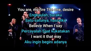 Backstreet Boys - I Want It That Way- (Lyrics) Lirik Terjemahan Indonesia