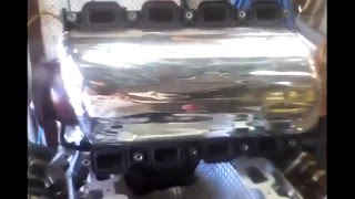 how to insulate a wj jeep power tech dodge magnum 4 7 v8 intake manifold