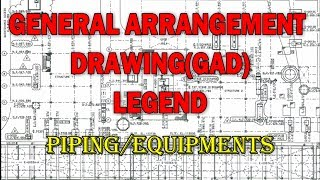 General Arrangement Drawing (GAD) | Legend | Piping & Equipment's