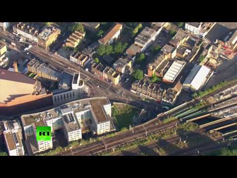 DRONE FOOTAGE: Investigation underway after Finsbury Park van attack