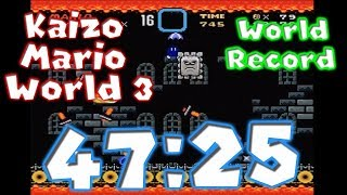 Kaizo Mario World 3 Any% Speedrun 47:25