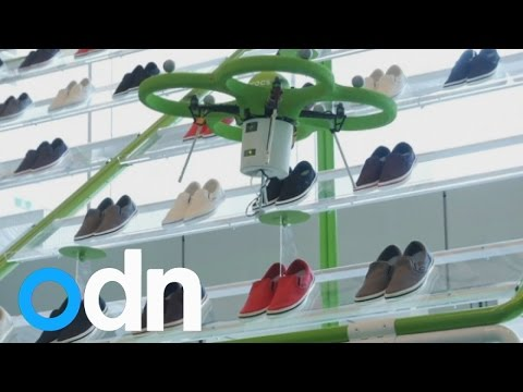 Japanese shoppers treated with futuristic experience