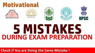 5 Mistakes During Exam Preparation & Game Over | Don