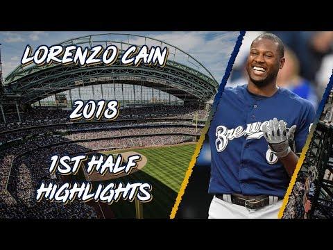 Lorenzo Cain 2018 1st Half Highlights