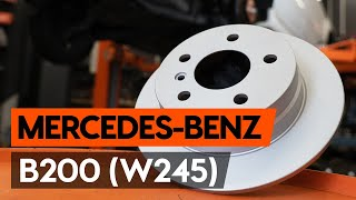 rear and front Brake Discs fitting MERCEDES-BENZ B-CLASS (W245): free video
