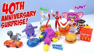 McDonalds Surprise Happy Meal Toys 40th Anniversary Full Collection Show