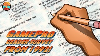 Filling Out GamePro's Reader Survey from 1992 - Defunct Games