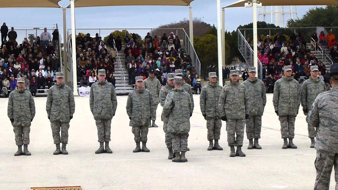 Air Force Bmt Graduation Jan 23 2014 Lackland Afb Texas