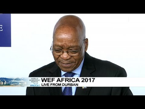 President Zuma arrives at the WEF on Africa 2017, Durban