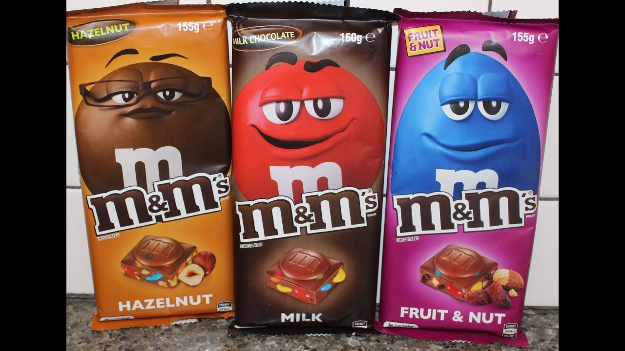 M M S Chocolates Hazelnut Milk And Fruit Nut Candy Bar Review Youtube