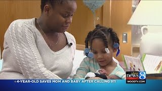 Girl, 4, saves pregnant mom's life by calling 911
