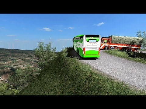 🔴 Volvo Bus Driving In [Most Scariest Roads] Euro Truck Simulator 2 Indian Bus Mod