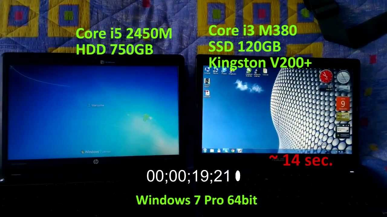 Ssd Vs Hdd Boot Time