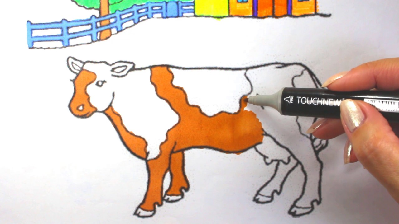 Coloring Pages That Look Like Real Animals : Cow coloring page :coloring pages farm animals youtube