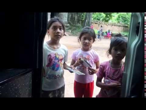 Cambodian Children Begging for Money
