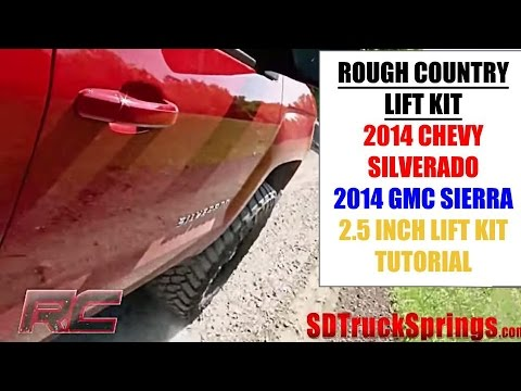 "Rough Country 2.5"" Leveling Suspension for 2014 4wd/2wd Chevy/GMC 1500"