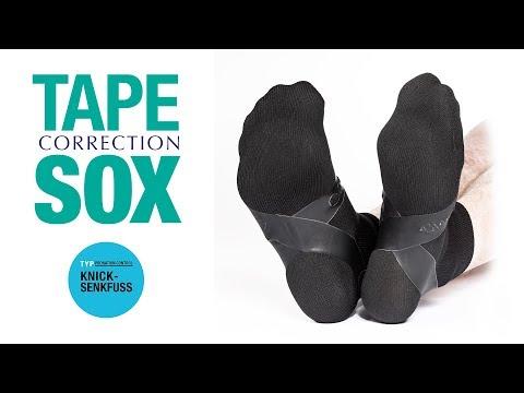 COMPRESSANA TAPE SOX - Typ Knick-Senkfuss / Pronation-Control - Korrektursocken mit kinesio. Tapes