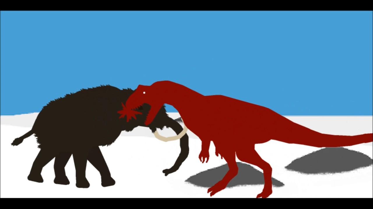 PPBA Mammoth vs Allosaurus - YouTube