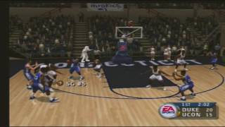 2 Duke Blue Devils 1 Connecticut Huskies NCAA March Madness 2004 video game