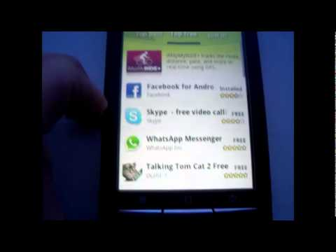 How To | Download An App On A Sony Erricson Experia X8