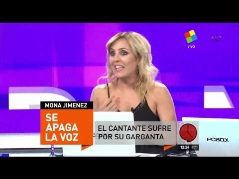 La Mona Jiménez frenó un show y contó la enfermedad que padece
