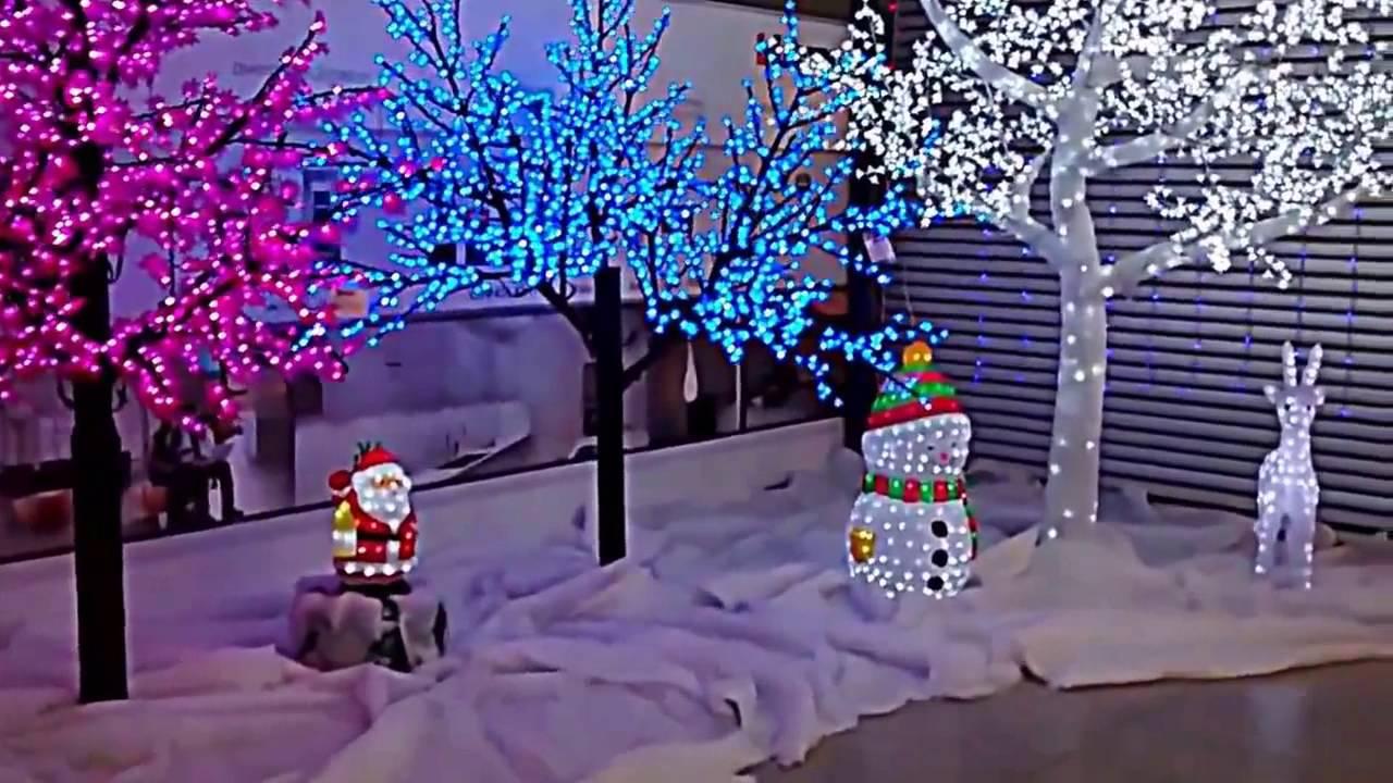 Arboles figuras y adornos led para navidad edelco youtube - Arboles de navidenos ...