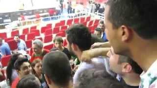 efes 71 85 karşıyaka   tbl şampiyonluk maı   ksk taraftarlarının kutlamaları