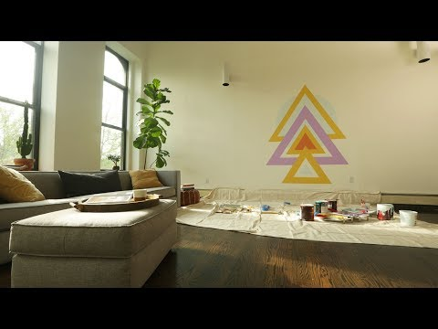 Create a Geometric Mural in Your Home