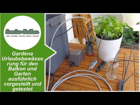 Gardena 1266 Urlaubs Bewässerungsset mit Zeitschalter 9l Wasserbehälter