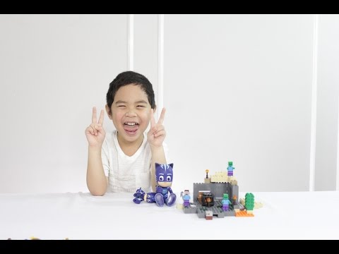 PJ Masks Talking Catboy and MineCraft Lego Unboxing