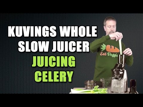 Juicing Celery Kuvings Whole Slow Juicer