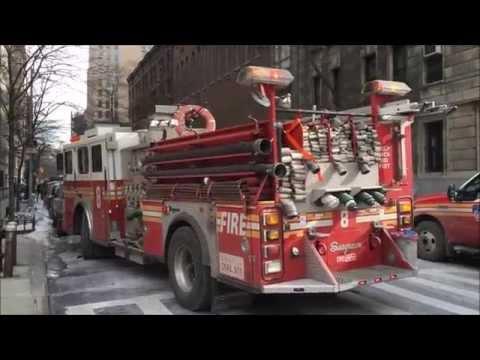 FDNY RESPONDING & ON SCENE BATTLING A 2 ALARM FIRE ON W. 78TH ST. IN MANHATTAN, NEW YORK CITY.