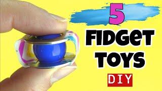 5 EASY DIY FIDGET TOYS - HOW TO MAKE DIY STRESS RELIEVERS- FUN DIY TOYS FOR KIDS- SCHOOL FIDGET TOYS