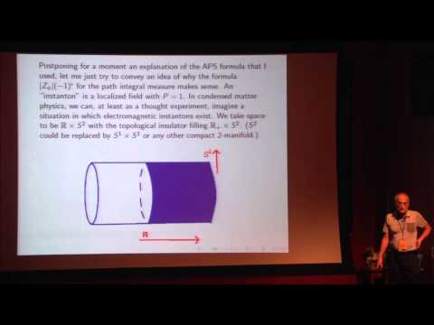 "PiTP 2015 - ""Fermion Path Integrals and Topological Phases"" - Edward Witten"