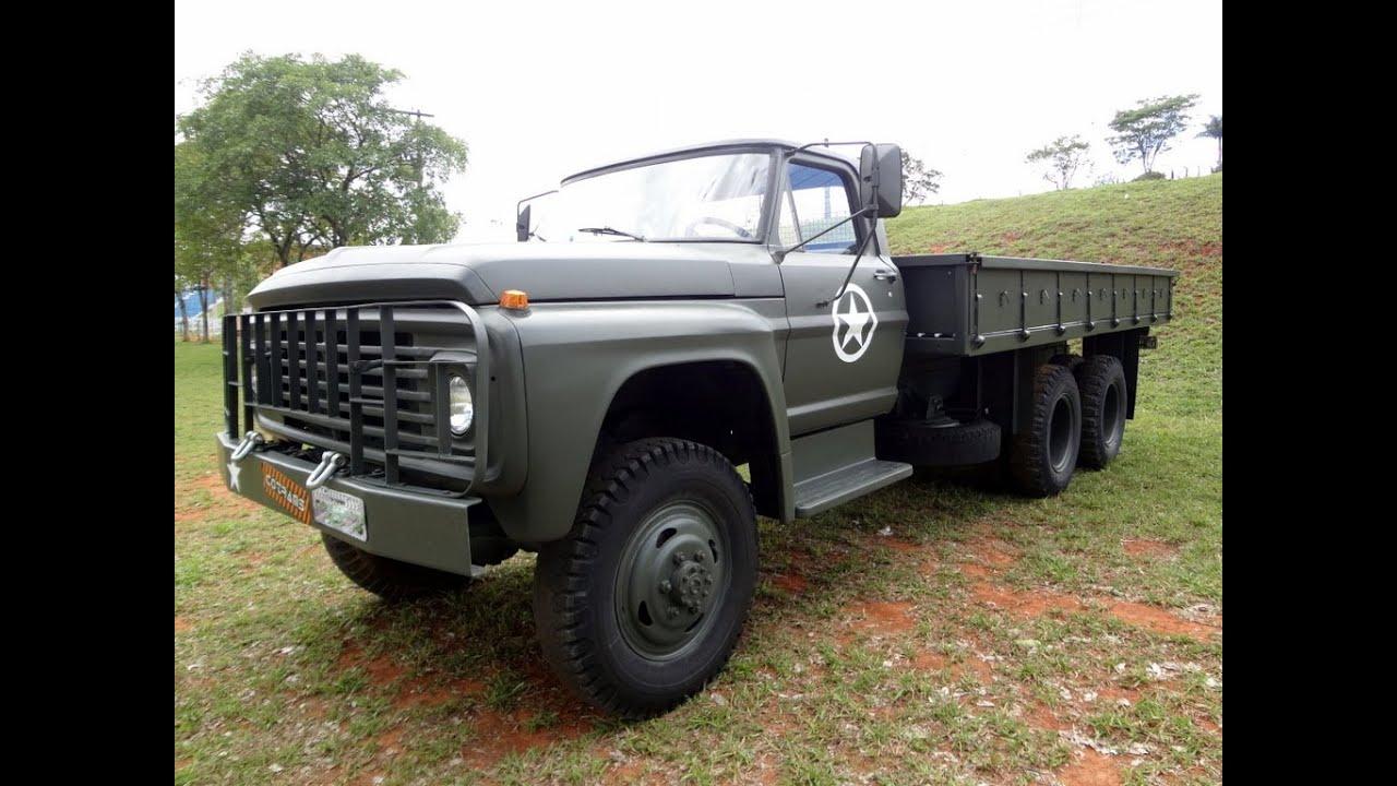Caminhão Militar Ford F600 6x6 Perkins Diesel