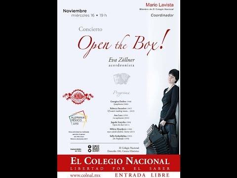 """Concierto: """"Open the Box"""" - Presenta: Eva Zöllner, acordeonista - Noviembre 16, 2016"""